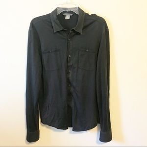 John Varvatos Silk Blend Button Down Shirt